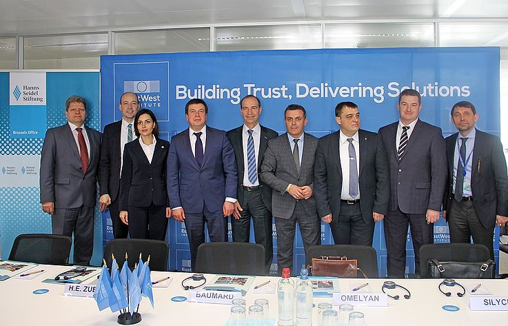 Gruppenbild mit der ukrainischen Delegation