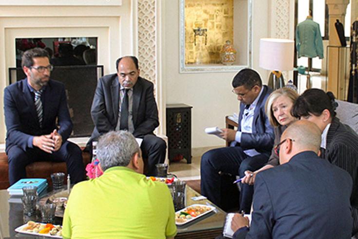 Offene Diskussionsrunde mit den marokkanischen Migrationsexperten der Universität Cadi Ayyad in Marrakesch über die aktuelle Migrationssituation in Marokko und die Asyl- und Einwanderungsdebatten in Deutschland