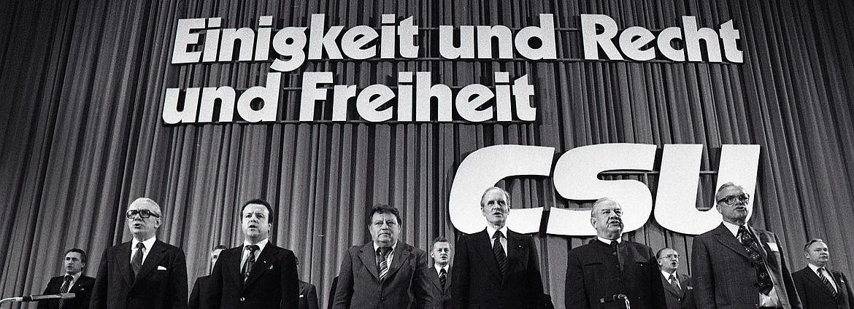 """CSU-Parteitag """"Einigkeit und Recht und Freiheit"""" am 16. und 17. Juni 1978 in München"""