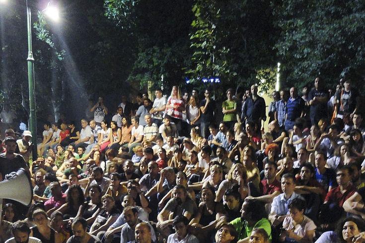 Aktivisten des Nein-Lagers protestieren in Istanbul jeden Abend seit dem Referendum