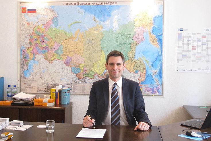 Hat sich schon ein bisschen in Moskau verliebt: Jan Dresel leitet seit März unsere Verbindungsstelle in der russischen Hauptstadt.