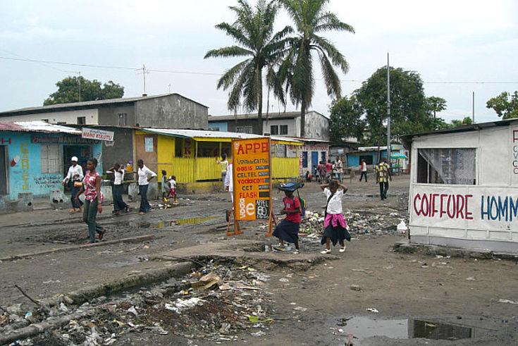 Straße in Kinshasa