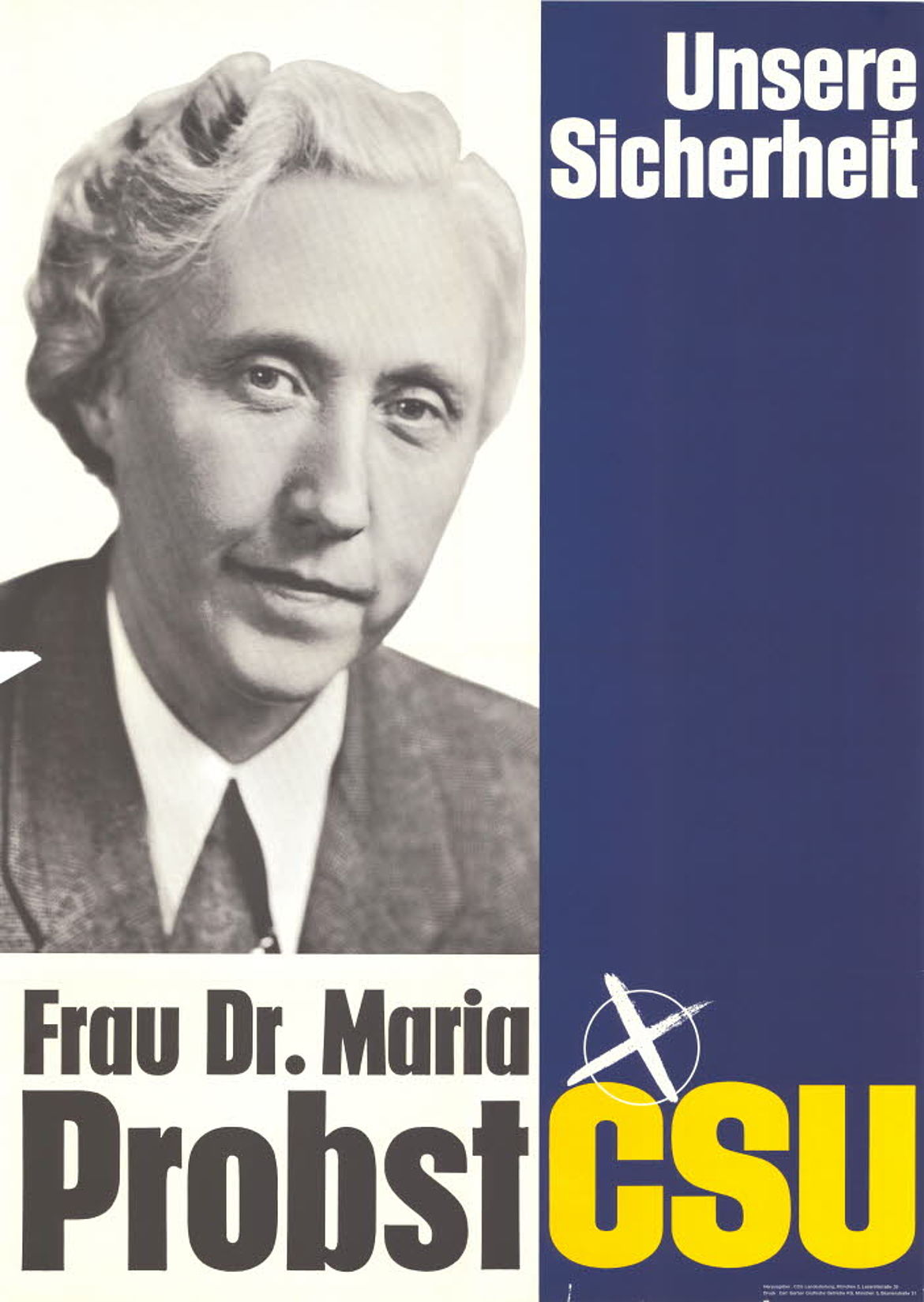 Plakat zur Bundestagswahl 1965