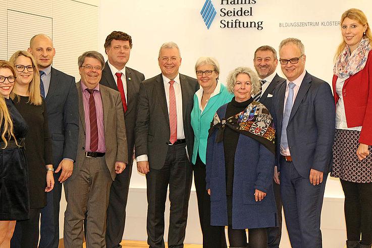 Die HSS-Referatsleiter und stellvertretender HSS-Vorsitzender Markus Ferber