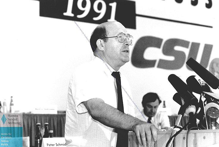 Wolfgang Bötsch CSU-Parteitag 1991