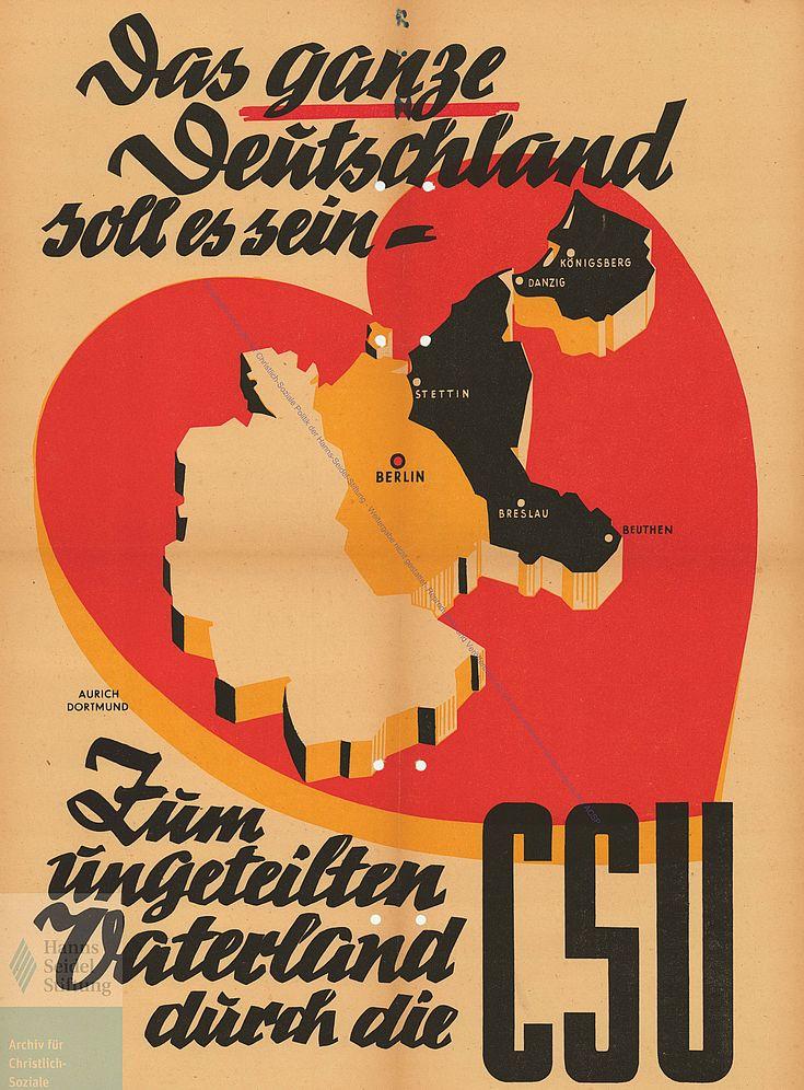 Plakat zur Bundestagswahl 1949