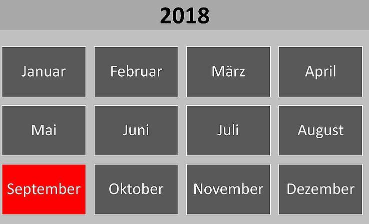 Historische Ereignisse und Gedenktage im September 2018