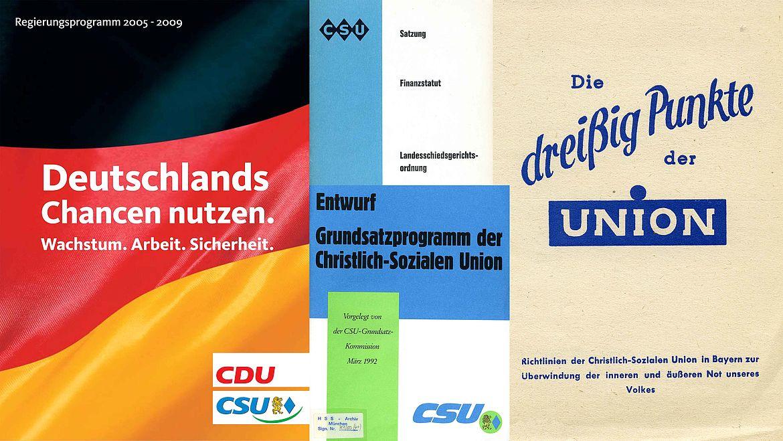Programme, Satzungen und Entwürfe