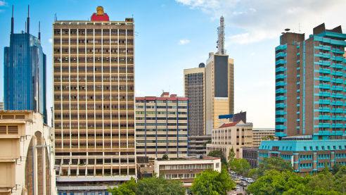 Stadtzentrum von Nairobi. Bild mit freundlicher Genehmigung von Mediamax Network Ltd