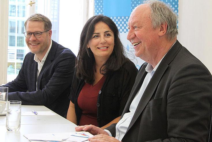 Alexander Wolf, Leiter des Hauptstadtbüros Berlin, Düzen Tekkal, Hans-Peter Niedermeier, Leiter des Instituts für Begabtenförderung