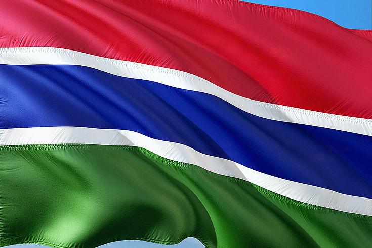 Flagge Gambias