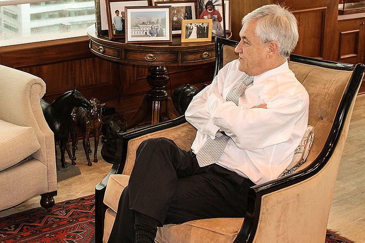 Der konservative Sebastián Piñera wird als neuer Präsident in den Regierungspalast La Moneda einziehen.