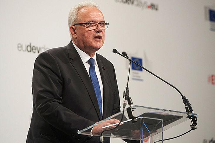 Neven Mimica, Gastgeber und EU-Kommissar für Entwicklung und Zusammenarbeit eröffnet die Europäischen Entwicklungstage