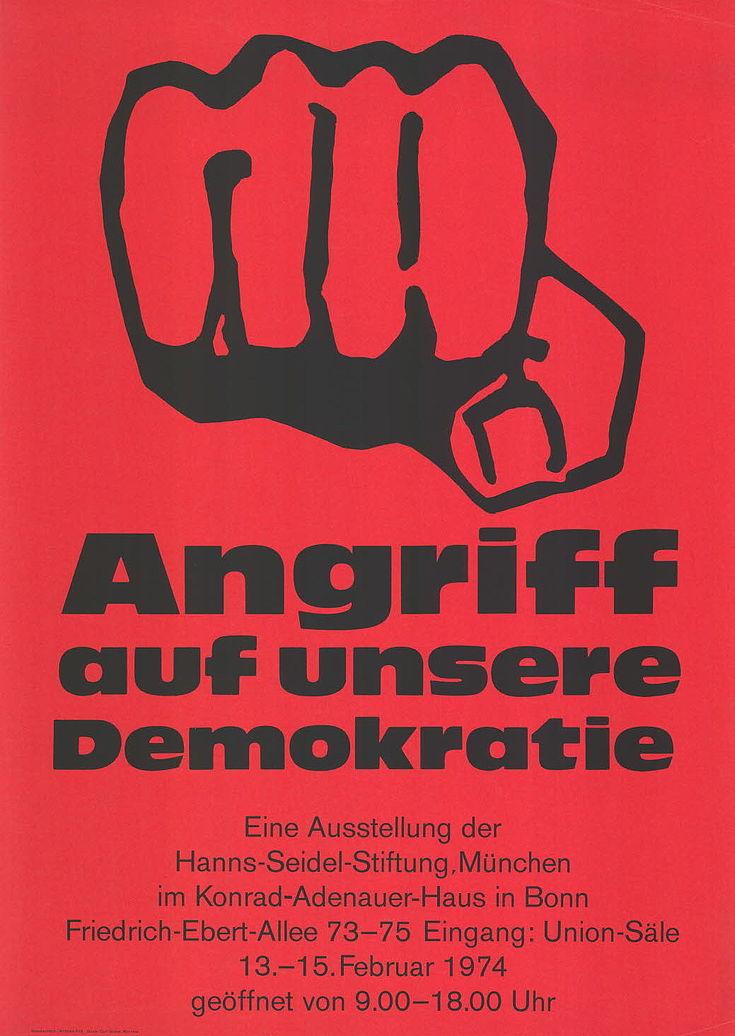 """Plakat """"Angriff auf unsere Demokratie"""""""