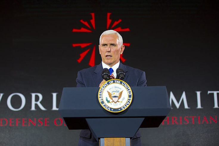 In seiner Rede bezog Vize-Präsident Mike Pence klar Stellung für Christen weltweit. Es müsse alles Denkbare unternommen werden, um für Sicherheit für alle, Toleranz und gegenseitigen Respekt zu sorgen.