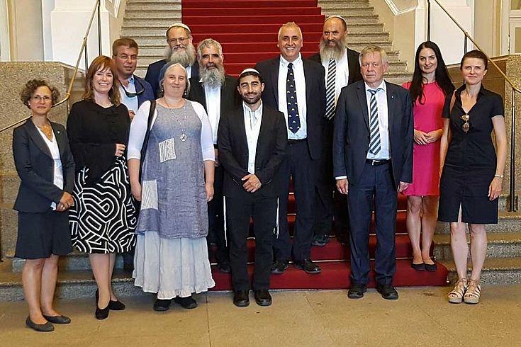 Die Delegation besuchte den Bayerischen Landtag