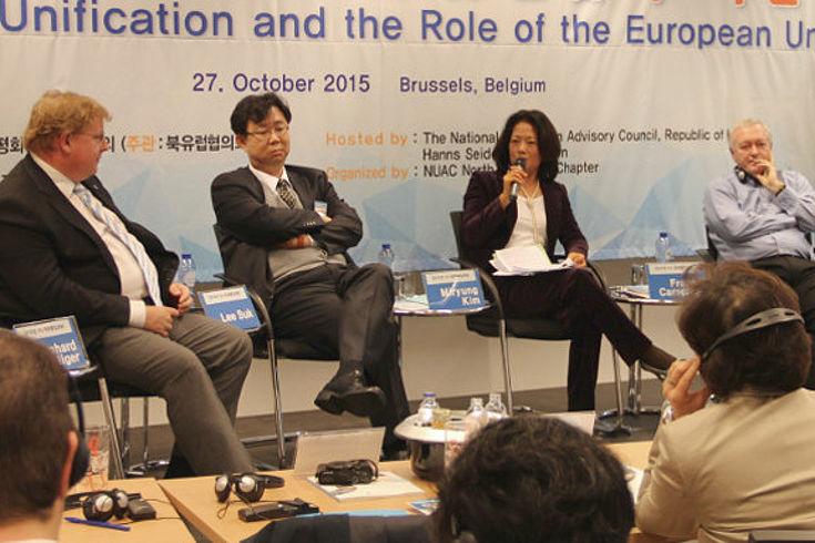 Panel mit Bernhard Seliger, Lee Kim Mir-Ryung, Fraser Cameron und Kim Jin-Ha