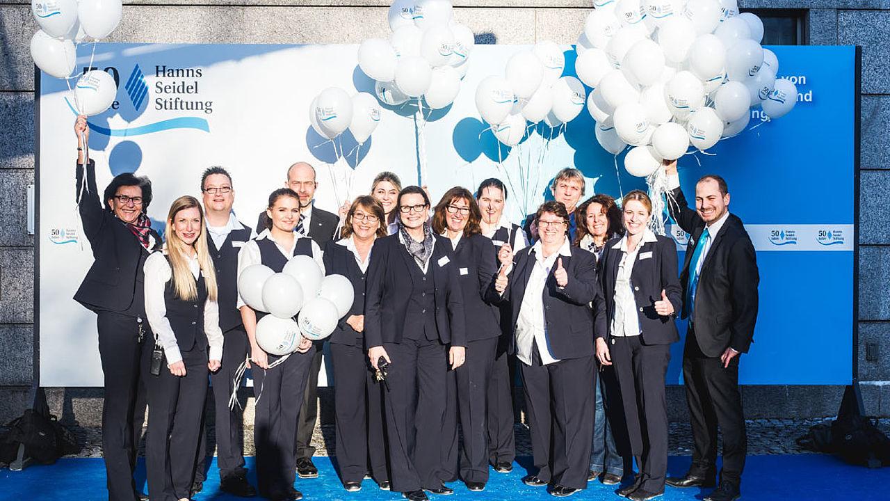 Professionell und immer gut gelaunt: Antje Göttert und ihr Service-Team vom Konferenzzentrum