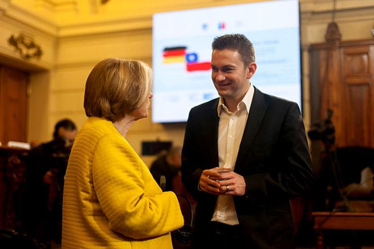 Ursula Männle mit David Gregosz (KAS, kommissarischer Leiter des Landesprojekts Chile)