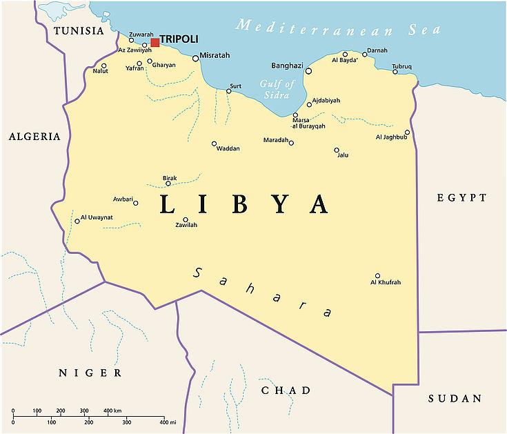 Karte Libyens