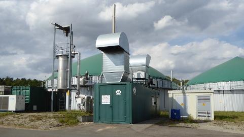 Die Biogasanlage in Haßfurt