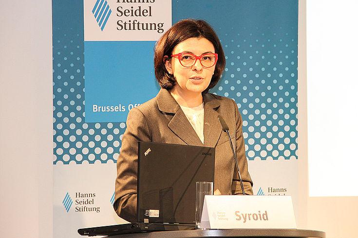 Oksana Syroid setzt sich für die gesellschaftliche, staatliche und wirtschaftliche Entwicklung der Ukraine ein