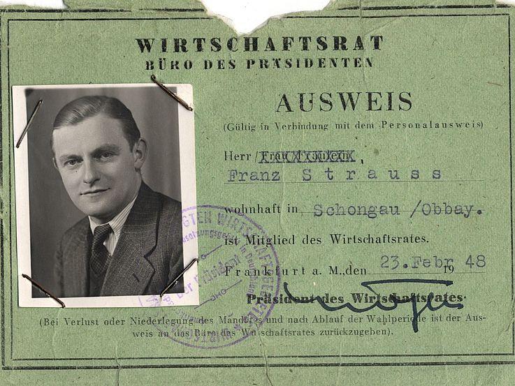 Ausweis für den Wirtschaftsrat 1948