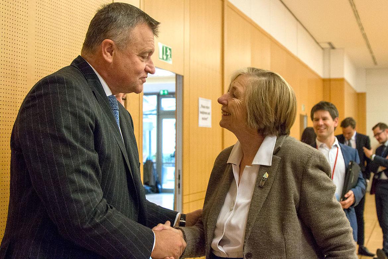 Ursula Männle und Sergej Ganzha