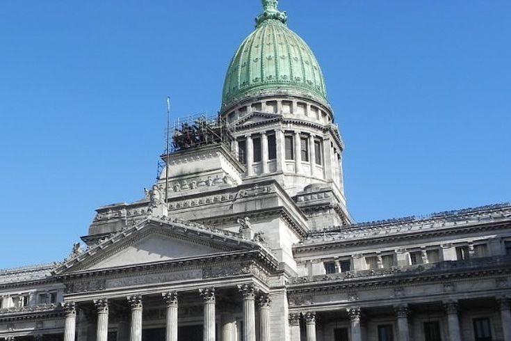 Ansicht der Kuppel des Congresso Nacional in Buenos Aires