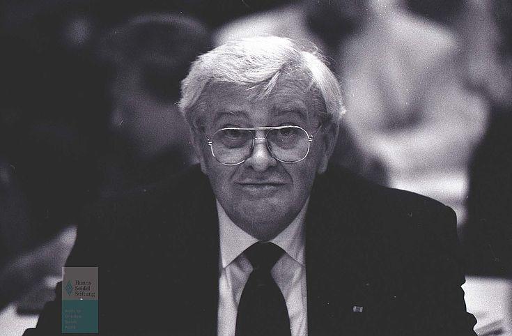Florian Harlander beim CSU-Parteiausschuss 1992