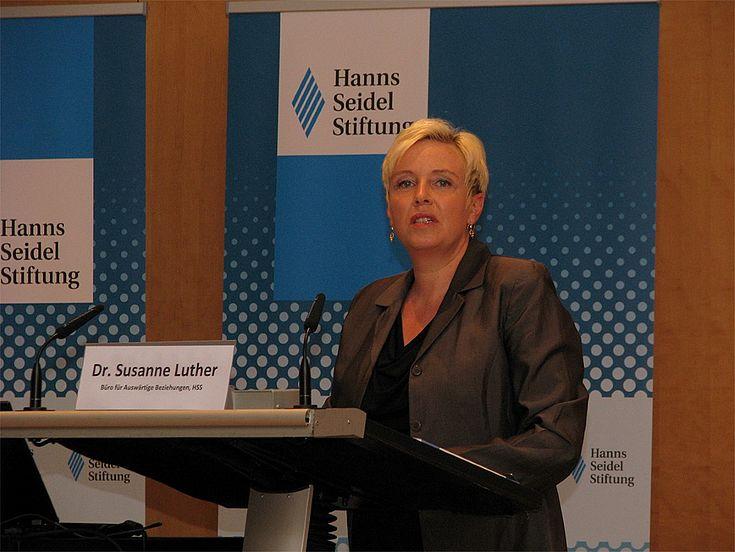 Susanne Luther, Leiterin des Büros für Auswärtige Beziehungen der Hanns-Seidel-Stiftung