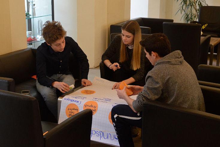 Gruppenarbeit mit Erstellung eines Plakates