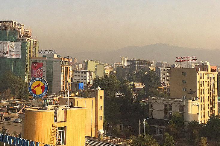 Ansicht von Addis Abeba
