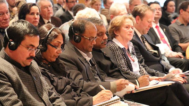 Experten aus Südasien im Publikum