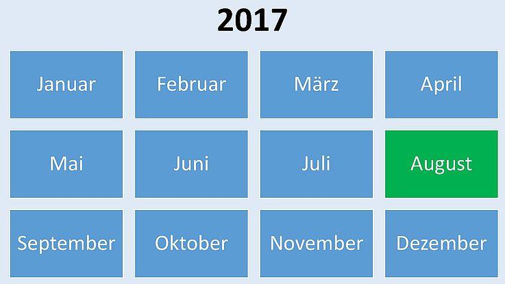 Historische Ereignisse im August 2017