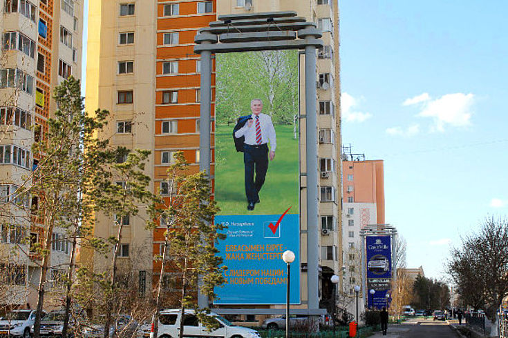 Der wiedergewählte Präsident Nazarbayev