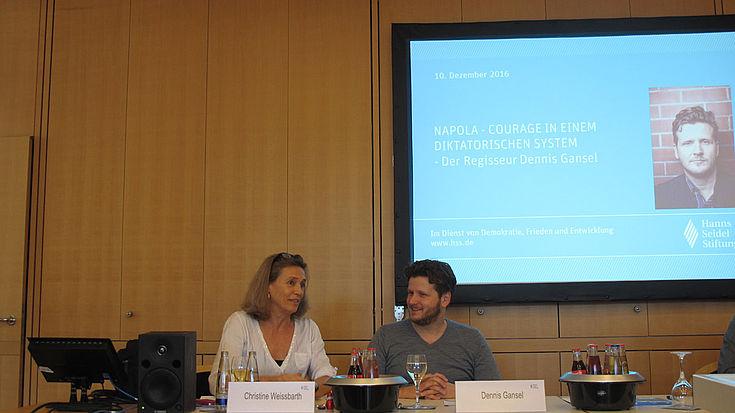 Regisseur Gansel im Gespräch mit der Filmjournalistin Christine Weissbarth