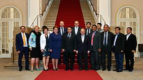 Die indonesischen Justizexperten wurden im Bayerischen Landtag von Barbara Stamm begrüßt
