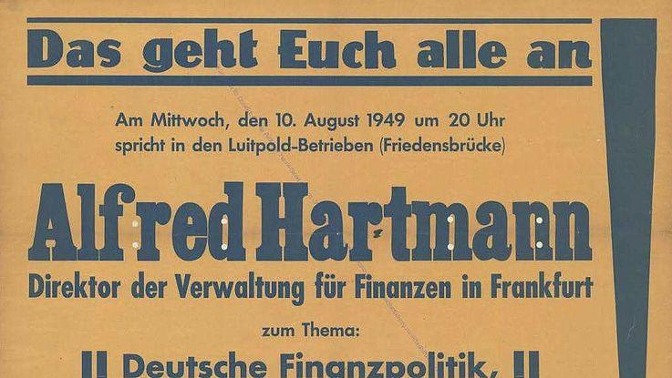 Plakat des WBU zur Bundestagswahl 1949