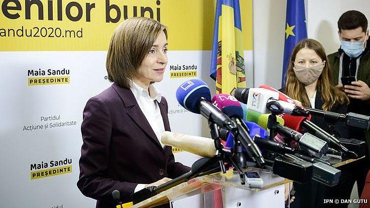 """Staatspräsidentin Maia Sandu kämpft gegen Mißstände: """"Mit einem korrupten Parlament kann man keine Korruption bekämpfen""""."""