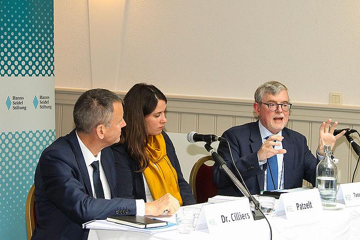 Panel mit Jakkie Cilliers, Katharina Patzelt, Joaquin Tasso Vilallonga