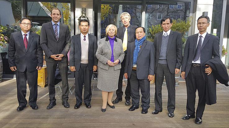 Begrüßungen der Delegation durch die Vorsitzende der HSS, Prof. Ursula Männle, Staatsministerin a.D.