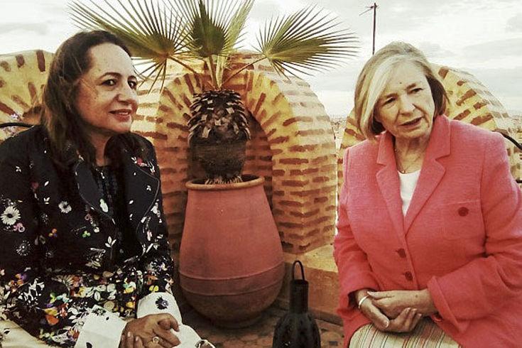 Die zweite Bürgermeisterin der Stadt Marrakesch, Awatef Berdai, besprach mit der Vorsitzenden kommunalpolitische Herausforderungen des Weltkulturerbes