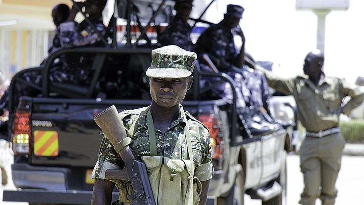 Militärpolizei in Uganda