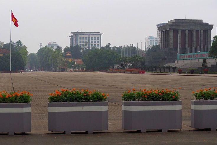 Das Ho Chi Minh-Mausoleum während der Ausgangssperre