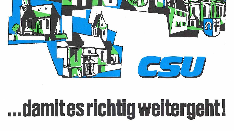 Plakat zur Kommunalwahl 1978
