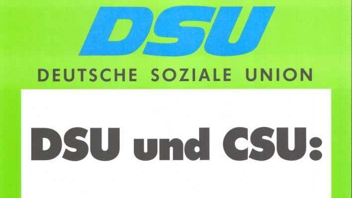 Gründung der DSU in Leipzig 1990