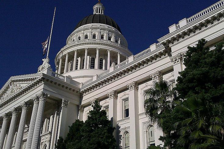 Das Senat der USA von unten fotografiert