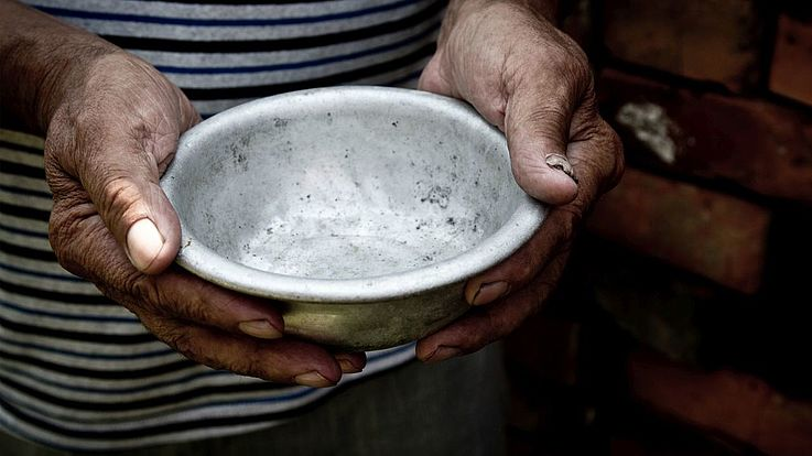 Ein Ziel der Agenda 2030 für nachhaltige Entwicklung sieht vor, den weltweiten Hunger zu besiegen.