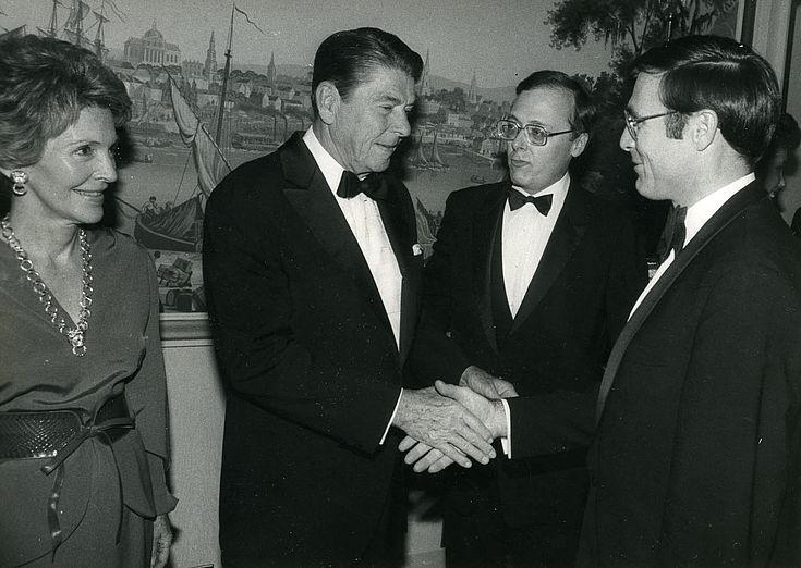 Zehnjähriges Jubiläum der Heritage Foundation in Washington am 3. Oktober 1983 mit Ronald und Nancy Reagan, Wolfgang Maurus